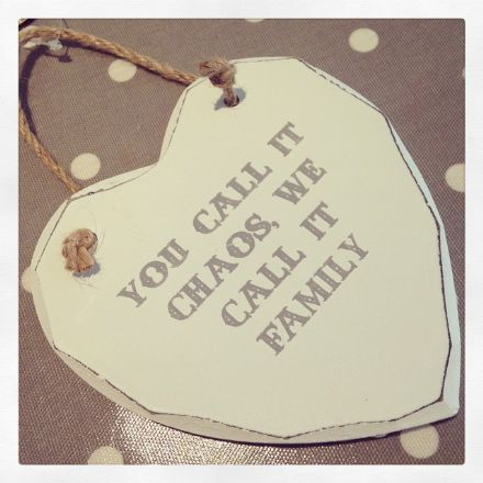50% off You Call It Chaos, We Call It Family Hanging Wooden Heart